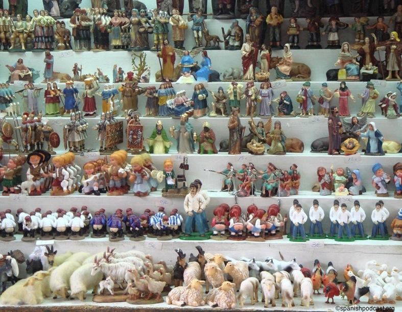 muchas figuritas del belén
