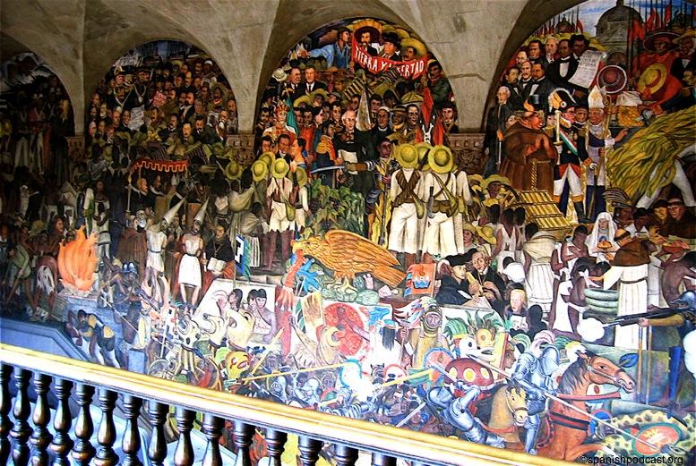 Murales escalera pal nacional for Diego rivera la conquista mural